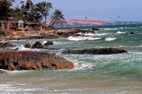 Coastline near Mui Ne village