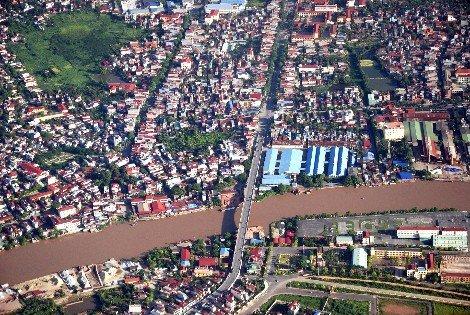 Aerial view of Hai Phong City