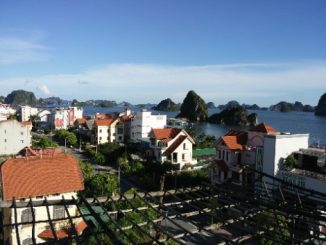 Ha Long City is on the Northern edge of Ha Long Bay