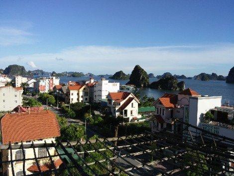 Ha Long City is on the Northern edge of Ha Long Bay