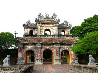 One of the many gates at the Imperial Citadel in Hue