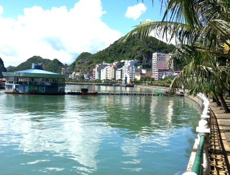 Seafront in Cat Ba Town
