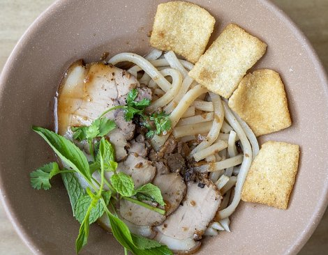 Quang noodles are a speciality of Central Vietnam